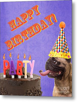 Happy Birthday Card Metal Print by Edward Fielding