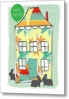 Happy Easter Card Metal Print by Linda Woods