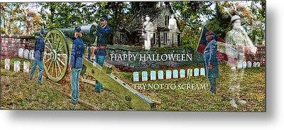 Happy Halloween-try Not To Scream Metal Print by EricaMaxine  Price