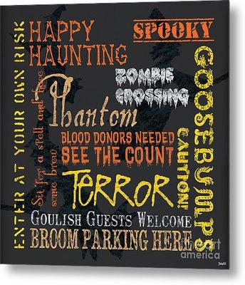 Happy Haunting Metal Print by Debbie DeWitt