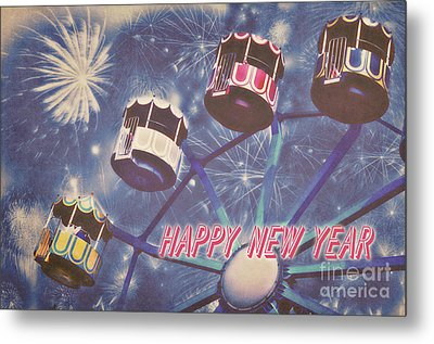 Happy New Year Metal Print by Angela Doelling AD DESIGN Photo and PhotoArt