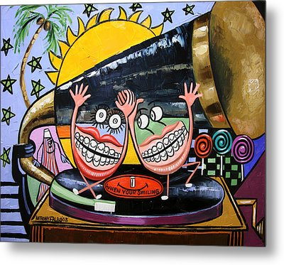 Happy Teeth When Your Smiling Metal Print by Anthony Falbo