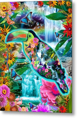 Happy Toucan Metal Print by Alixandra Mullins