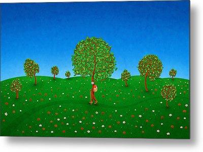 Happy Walking Tree Metal Print by Gianfranco Weiss
