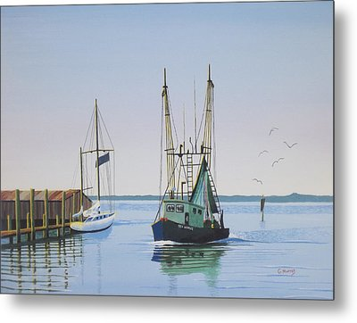 Harbor Days End Metal Print by Gregory Murray