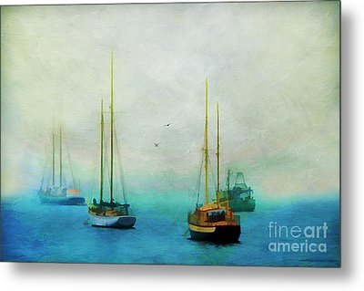 Harbor Fog Metal Print by Darren Fisher