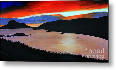Harbour Sunset Metal Print by Barbara Griffin
