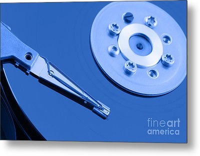 Hard Disk Metal Print by Georgios Kollidas