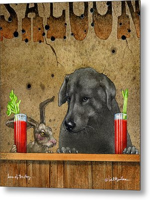 Hare Of The Dog... Metal Print by Will Bullas