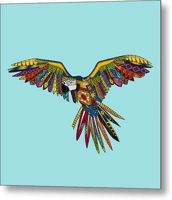 Harlequin Parrot Metal Print by Sharon Turner