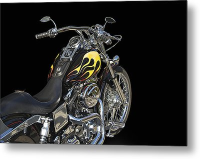 Harley Davidson 4 Studio Metal Print by Dave Koontz