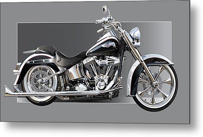 Harley Davidson Metal Print by Alain Jamar
