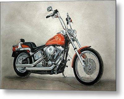 Harley Davidson Metal Print by Heather Gessell