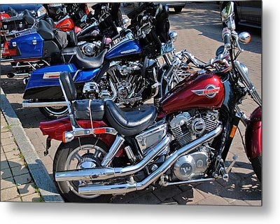 Harley Davidson Metal Print by Frozen in Time Fine Art Photography