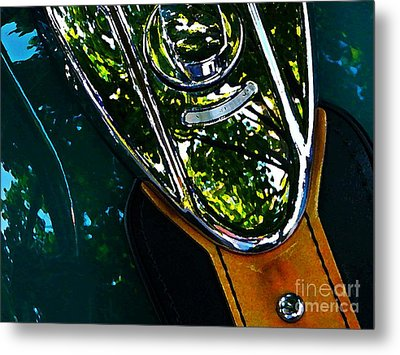 Harley Tank In Oils Metal Print by Chris Berry