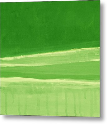 Harmony In Green Metal Print by Linda Woods