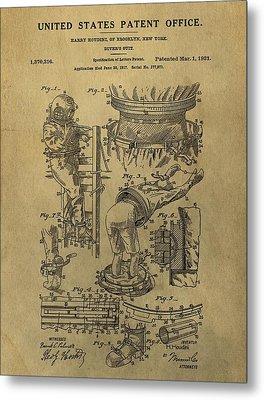 Harry Houdini's Diving Suit Patent Metal Print by Dan Sproul