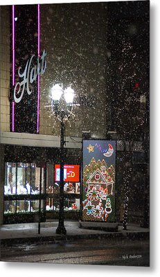 Hart In The Snow - Grants Pass Metal Print by Mick Anderson