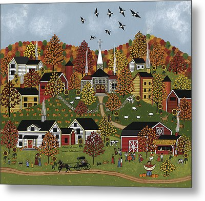 Harvest Celebration II Metal Print by Medana Gabbard