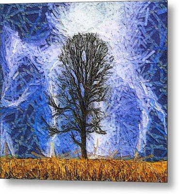 Harvest Storm Metal Print by Dan Sproul