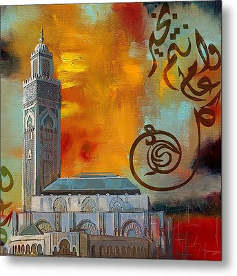 Hassan 2 Mosque Metal Print by Corporate Art Task Force