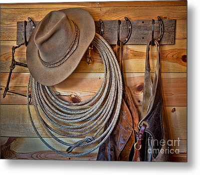 Hats And Chaps Metal Print by Inge Johnsson