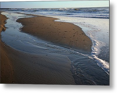 Hatteras Tidal Pools Metal Print by Steven Ainsworth