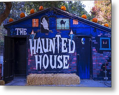 Haunted House Metal Print by Garry Gay