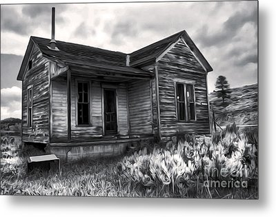 Haunted Shack - 01 Metal Print by Gregory Dyer
