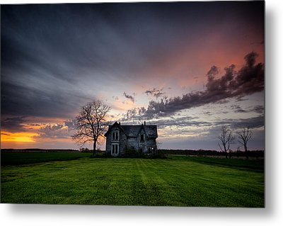 Haunted Sunset Metal Print by Cale Best