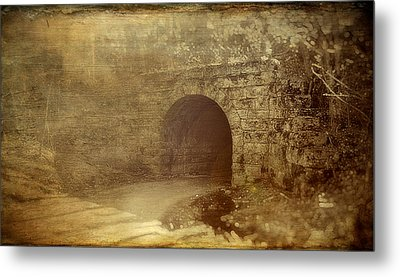Haunted Tunnel Metal Print by Kathy Jennings