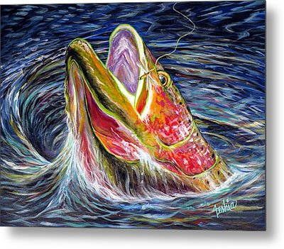 Haunted Waters Metal Print by Teshia Art