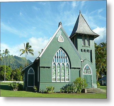Hawaiian Church Metal Print by Dee  Savage
