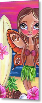 Hawaiian Fairy Metal Print by Jaz Higgins