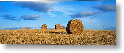 Hay Bales, Scotland, United Kingdom Metal Print by Panoramic Images