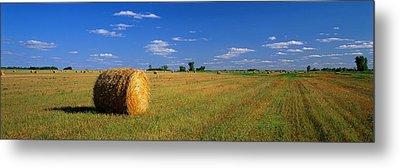Hay Bales, South Dakota, Usa Metal Print by Panoramic Images
