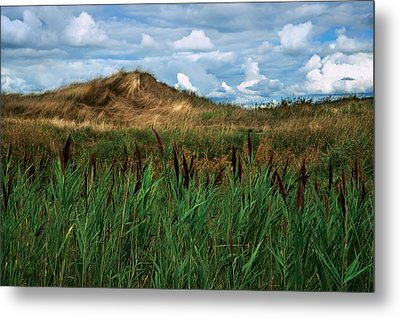 Hay Mound Metal Print by Mike Feraco
