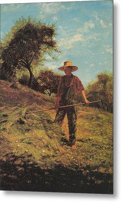 Haymaking Metal Print by Winslow Homer
