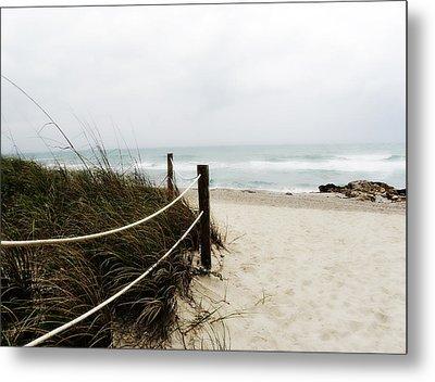 Hazy Beach Day Metal Print by Julie Palencia