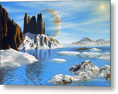 Hd 222582 B And Moon Metal Print by Lynette Cook