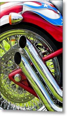 Hd Custom Drag Pipes Metal Print by Tim Gainey