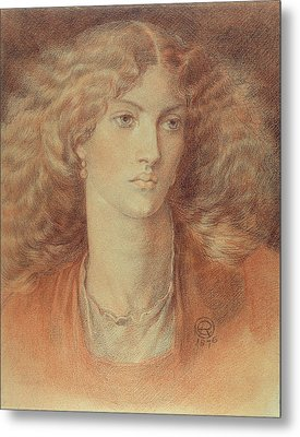 Head Of A Woman Called Ruth Herbert Metal Print by Dante Charles Gabriel Rossetti