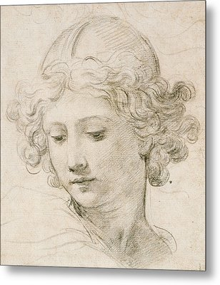 Head Of An Angel Metal Print by Pietro da Cortona
