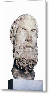 Head Of Epicurus. 1st Half 4th Bc Metal Print by Everett