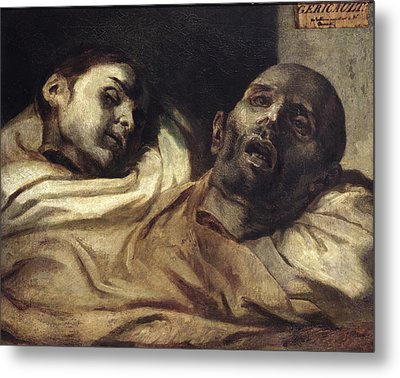 Heads Of Torture Victims, Study For The Raft Of The Medusa  Metal Print by Theodore Gericault