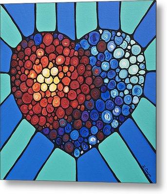 Heart Art - Love Conquers All 2  Metal Print by Sharon Cummings