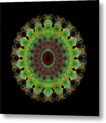 Heart Aura - Mandala Art By Sharon Cummings Metal Print by Sharon Cummings