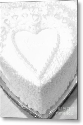 Heart Cake Metal Print by Kathleen Struckle
