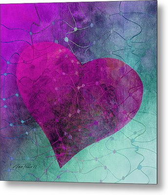 Heart Connections Two Metal Print by Ann Powell