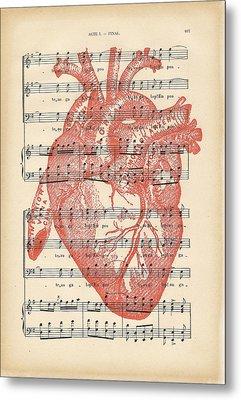 Heart Music Metal Print by Georgia Fowler